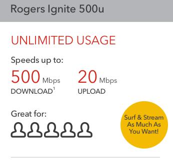 Rogers Ignite 500u